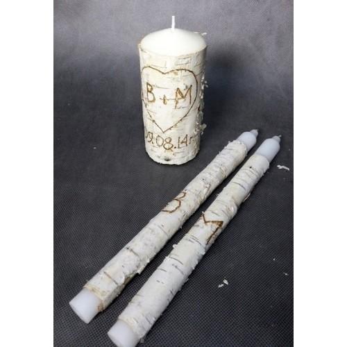 """Набор свадебных свечей """"Березка"""""""