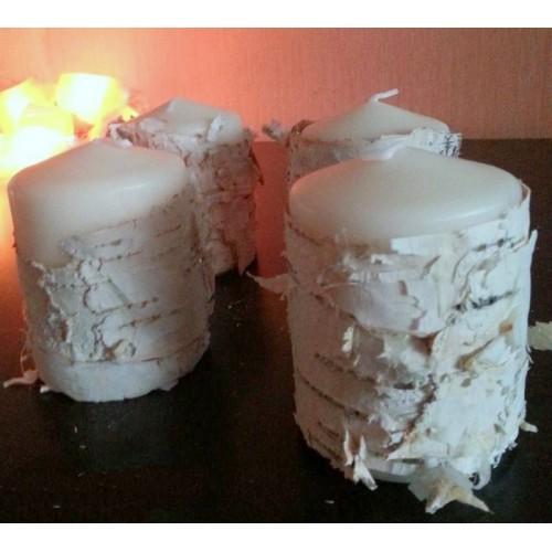 """Набор свечей для оформления """"Береста"""""""