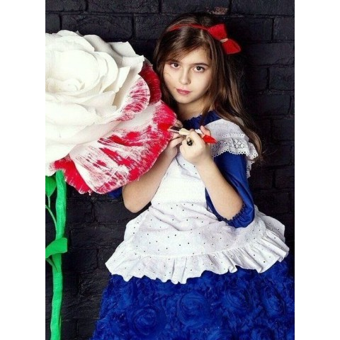 Большой бумажный цветок на стойке «Алиса»