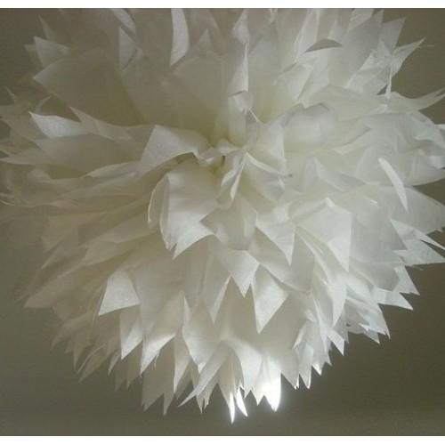 Белый помпон для оформления