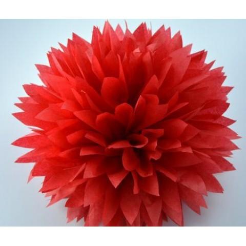 Красный помпон для оформления