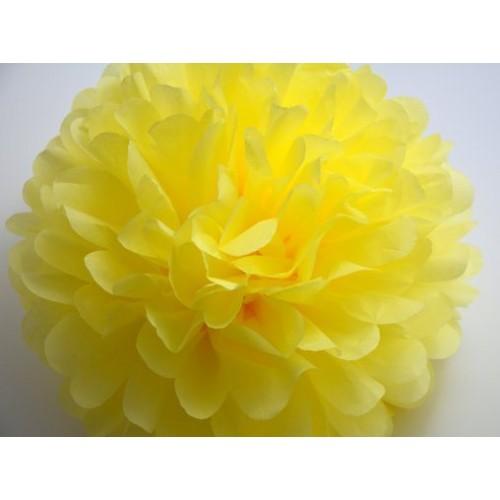 Желтый помпон для оформления