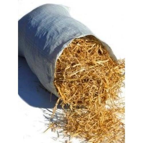 Солома в мешках пшеничная золотистая