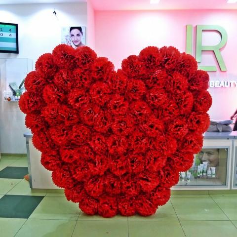 Большое ростовое сердце для декора