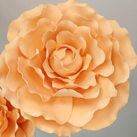 """Цветок  из фоамирана """"Пион персик"""""""