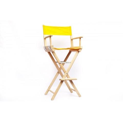 Аренда стула режисёрского из дерева, с желтой обивкой