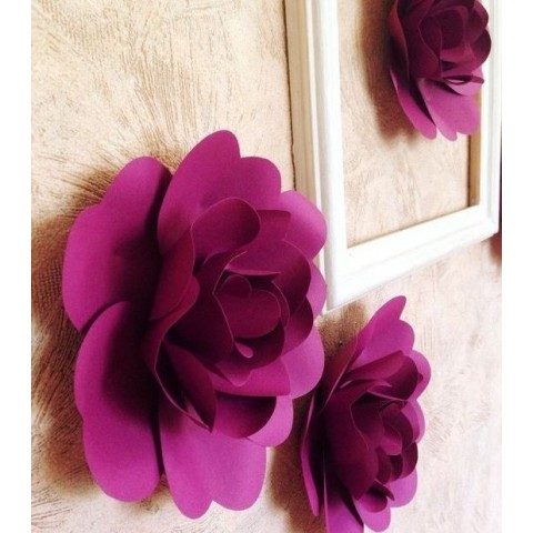 """Бумажные цветы для оформления """"Малинка"""""""