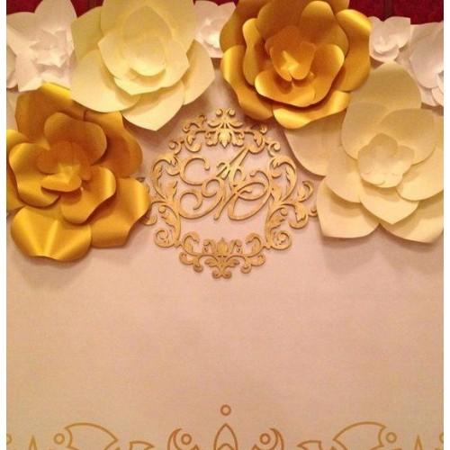"""Бумажные цветы для оформления """"Голд"""""""