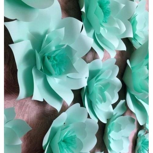 Бумажный цветок для оформления Тиффани