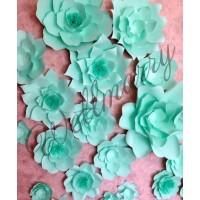 Бумажные цветы для оформления Тиффани