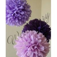 Фиолетовый помпон для оформления