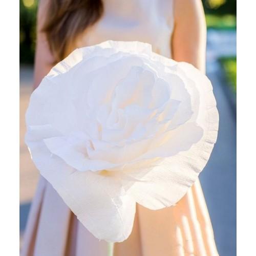 Гигантский бумажный цветок «Белая роза»