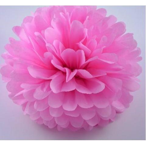 Розовый помпон для оформления