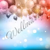 """Баннер с воздушными шарами на день рождения (макет """"Шары #1"""", ПОД КЛЮЧ с печатью, доставкой, монтажом и вывозом)"""