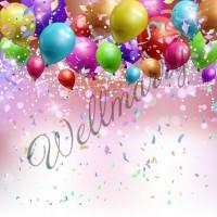 """Баннер с воздушными шарами на день рождения (макет """"Шары #2"""", ПОД КЛЮЧ с печатью, доставкой, монтажом и вывозом)"""