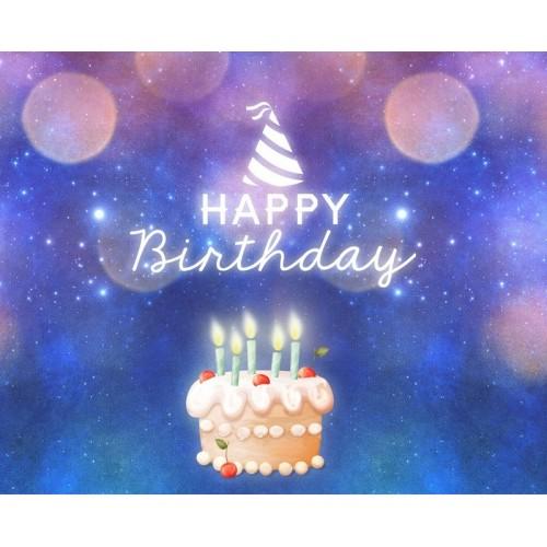 """Баннер на день рождения (макет """"Тортик"""", ПОД КЛЮЧ с печатью, доставкой, монтажом и вывозом)"""