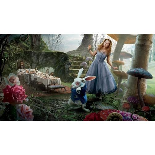 """Баннер пресс-волл на праздник (макет """"Алиса в стране чудес #4"""", ПОД КЛЮЧ с печатью, доставкой, монтажом и вывозом)"""