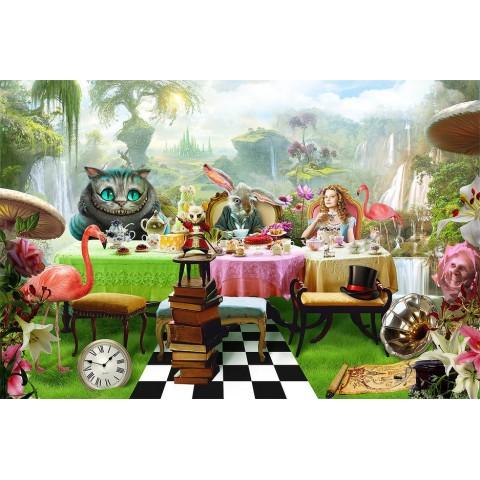 """Баннер пресс-волл на праздники (макет """"Алиса в стране чудес #3"""", ПОД КЛЮЧ с печатью, доставкой, монтажом и вывозом)"""