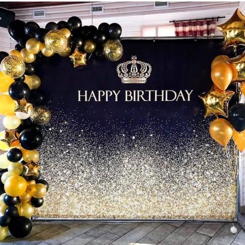 """Баннер на день рождения (макет """"Корона"""", ПОД КЛЮЧ с печатью, доставкой.."""