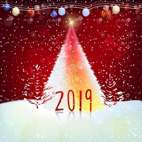 """Баннер пресс-волл на Новый год (макет """"RED"""", ПОД КЛЮЧ с печатью, доставкой, монтажом и вывозом)"""