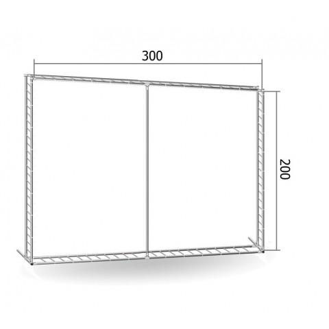 Каркас TRITIX для баннера пресс-волла 200*300 см (2*3 м)