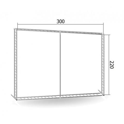 Каркас TRITIX для баннера пресс-волла 220*300 см (2,2*3 м)