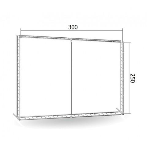 Каркас TRITIX для баннера пресс-волла 250*300 см (2,5*3 м)