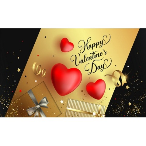 """Баннер пресс-волл на День Святого Валентина (макет """"Золото"""", ПОД КЛЮЧ с печатью, доставкой, монтажом и вывозом)"""