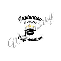 """Баннер пресс-волл на выпускной (макет """"Graduation"""", ПОД КЛЮЧ с печатью, доставкой, монтажом и вывозом)"""