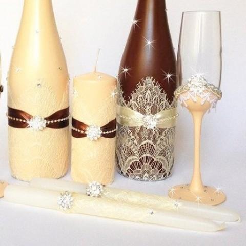 """Набор свадебных свечей """"Монтана"""""""