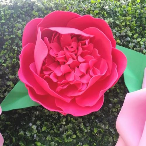 """Цветок  из фоамирана """"Пион красный"""""""