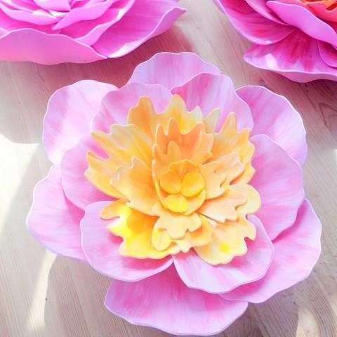 "Цветок  из фоамирана ""Миранда желтая"""