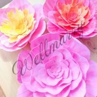 "Цветок  из фоамирана ""Миранда розовая"""