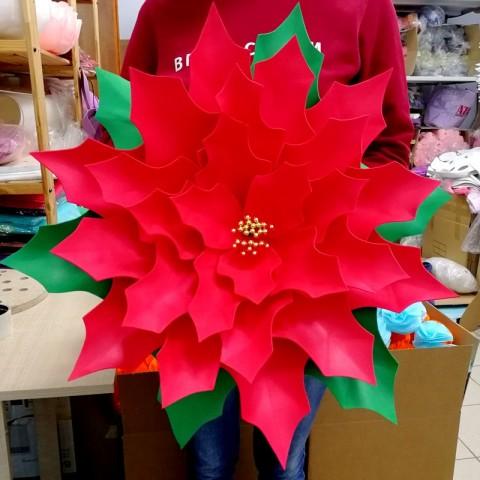 """Цветок  из фоамирана """"Пуансеттия"""""""