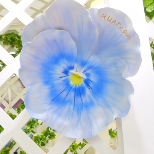 "Цветок  из фоамирана ""Виола Ниагара"""