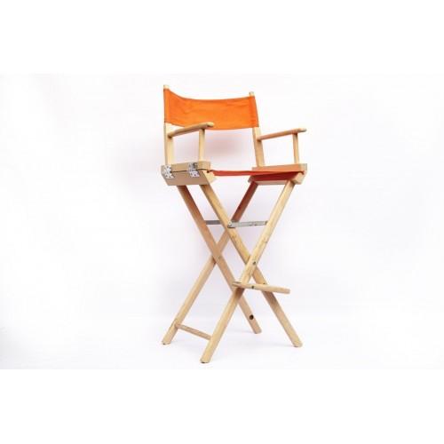 Аренда стула режисёрского из дерева, с оранжевой обивкой